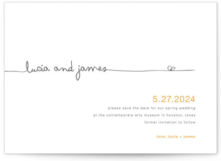 The Happy Couple Save the Date Cards