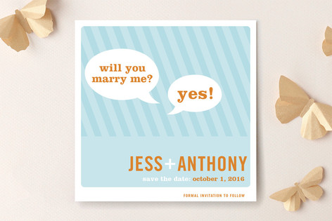Smart Conversation Save The Date Cards