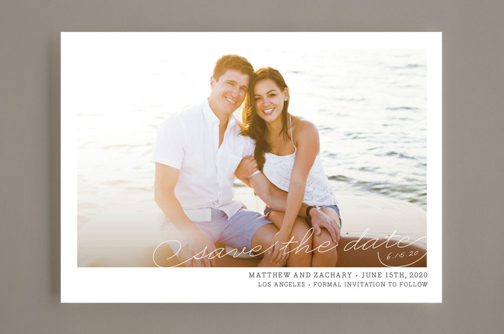 """Vintage Photograph"" - Vintage, Vintage Save The Date Cards in White by annie clark."