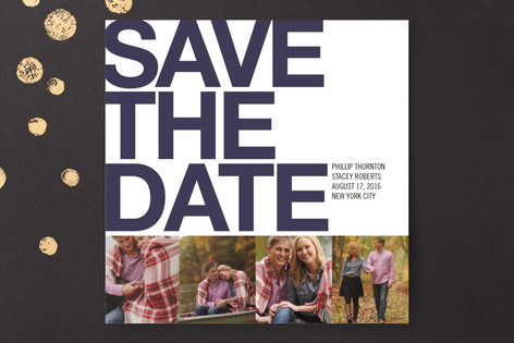 Four Square Save The Date Cards