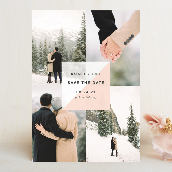 """""""portfolio"""" - Save The Date Cards in Blush by Robin Ott."""