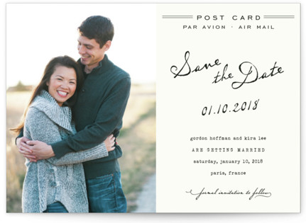 photo of Airmail Save The Date Cards