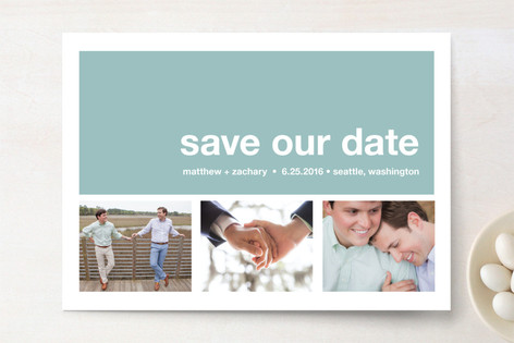 Modern Love Story Save The Date Cards