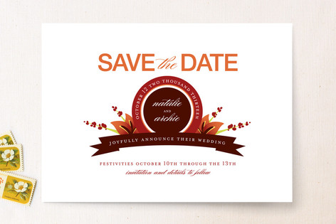 Calla Lily Emblem Save The Date Cards