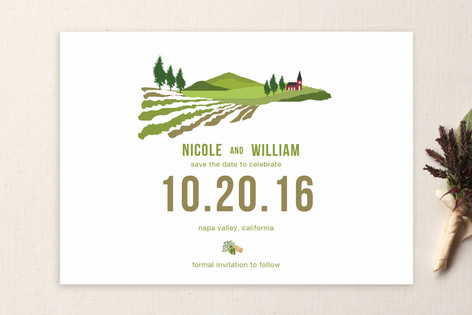 The Winery Save The Date Cards