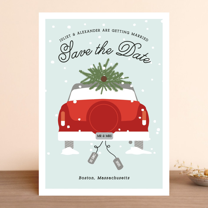 Wed In Winter Save The Date Cards By