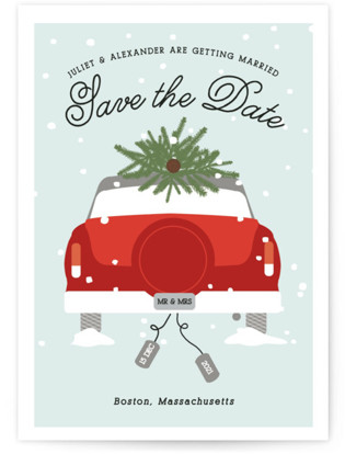 Wed In Winter Save The Date Cards
