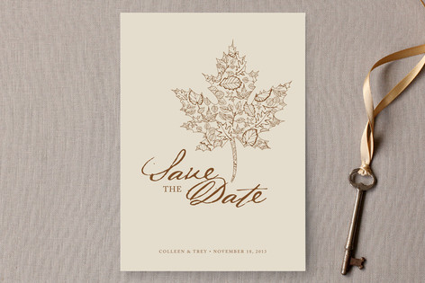 A Fall Date Save The Date Cards