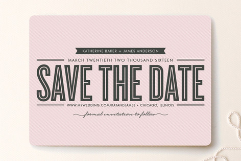 Stripe + Type Save The Date Cards
