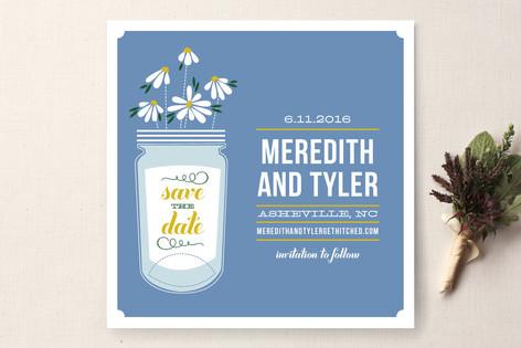 Wildflowers Mason Jar Save The Date Cards