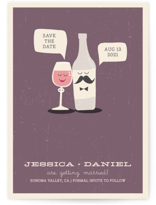photo of Little Wine Charmers Save The Date Cards