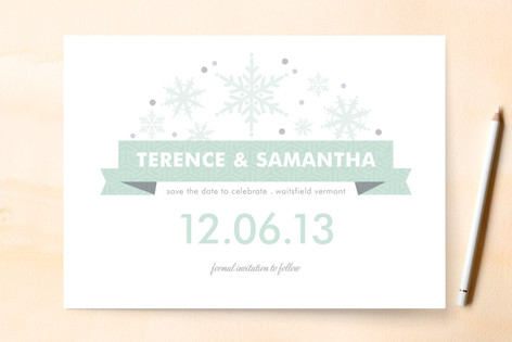 Wonderful Winter Save The Date Cards