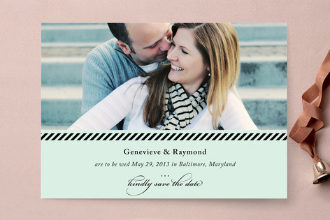 Sweet Stripes Save The Date Cards