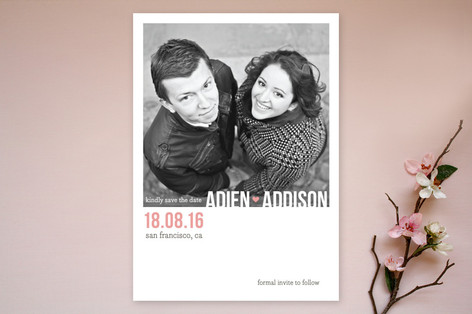 Modern Type Save The Date Cards