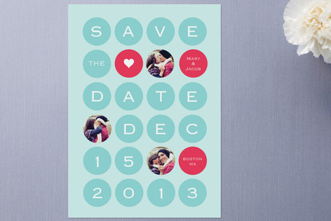 Holiday Dots Save The Date Cards