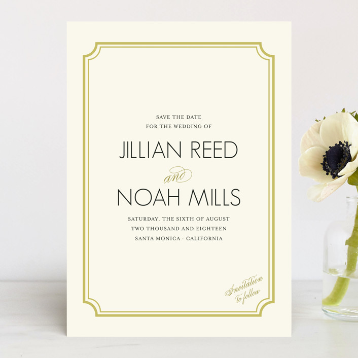 """Modern Classic"" - Vintage Save The Date Cards in GoldenBear by annie clark."