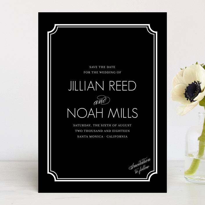 """""""Modern Classic"""" - Vintage Save The Date Cards in GoldenBear by annie clark."""