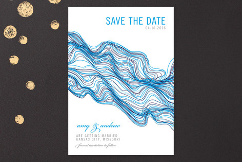 Modern Exhibit Save The Date Cards
