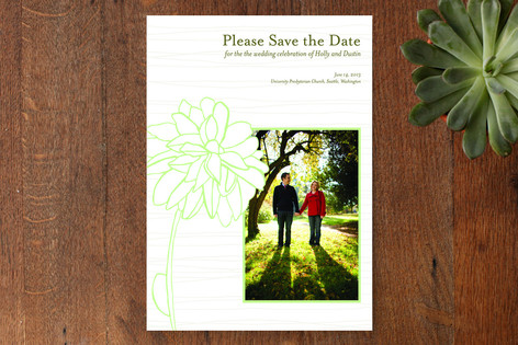 Modern Garden Save The Date Cards