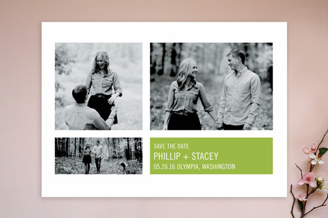 Modern Geometric Group Save The Date Cards