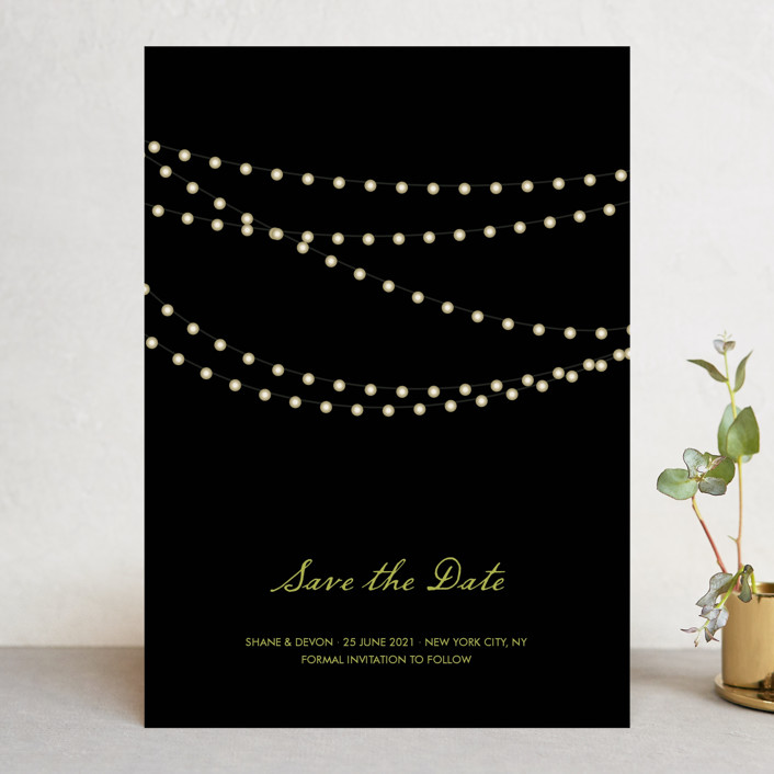 """Midnight Vineyard"" - Rustic, Winery Save The Date Cards in Midnight by Design Lotus."