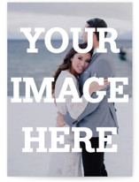This is a white save the date by Minted called The Big Picture with standard printing on smooth signature in standard.