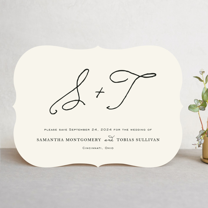 """""""Estate"""" - Save The Date Cards in Ivory by Kim Dietrich Elam."""