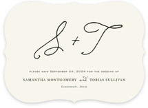 This is a beige save the date by Kim Dietrich Elam called Estate with standard printing on signature in standard.