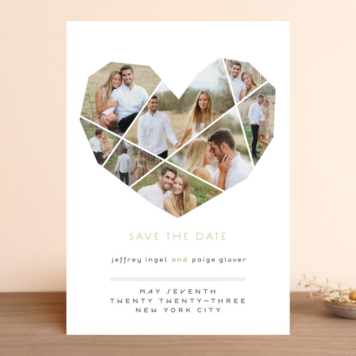"""""""Complete Love"""" - Whimsical & Funny, Modern Save The Date Cards in Camel by fatfatin."""
