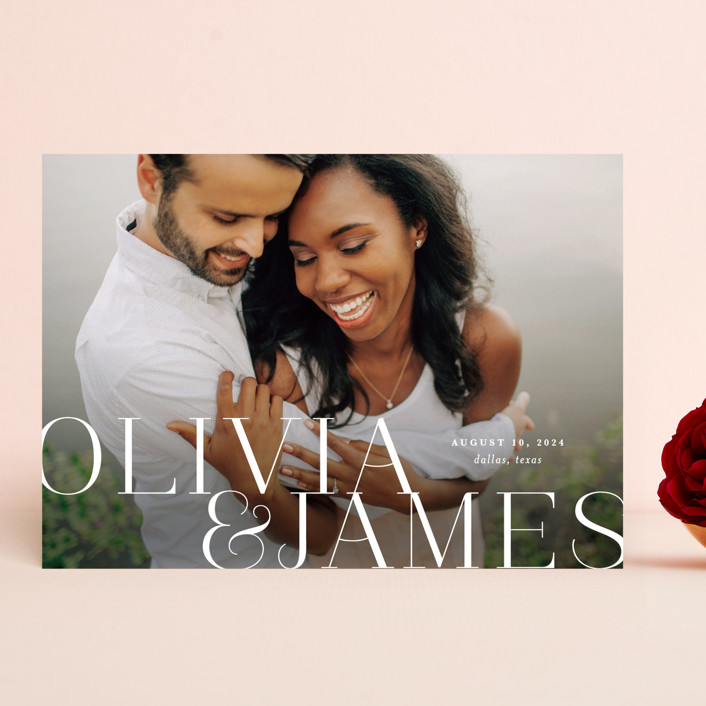 """""""This Couple"""" - Save The Date Cards in Pearl by Lauren Chism."""