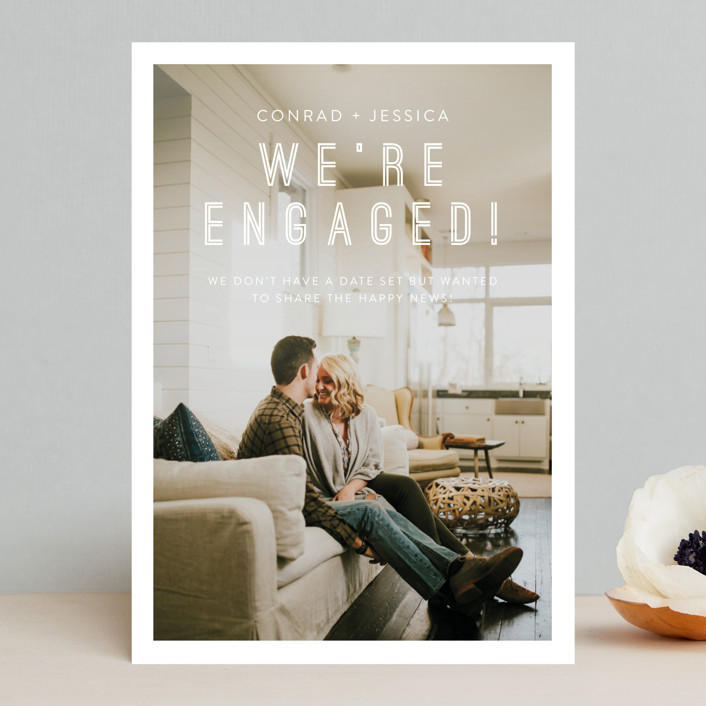 """""""Together"""" - Save The Date Cards in Snow by Eric Clegg."""