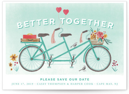 photo of In Tandem Save The Date Cards