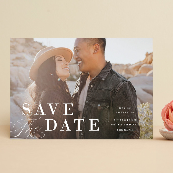 """""""Composition"""" - Save The Date Cards in Cloud by Ashley Rosenbaum."""