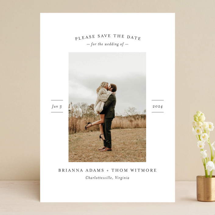 """""""More Than a Crush"""" - Save The Date Cards in Ebony by Ann Gardner."""
