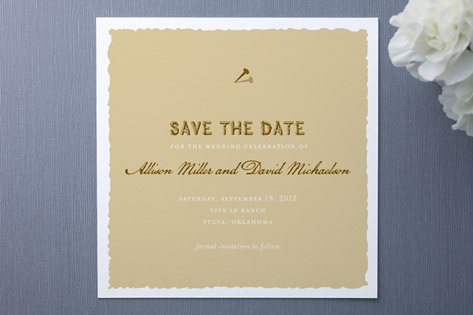 Western Posting Save The Date Cards