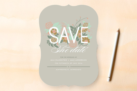 Floriculture Save The Date Cards
