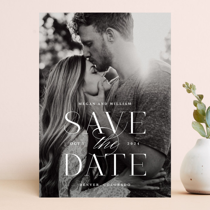 """Ultimate"" - Save The Date Cards in Cotton by Lauren Chism."