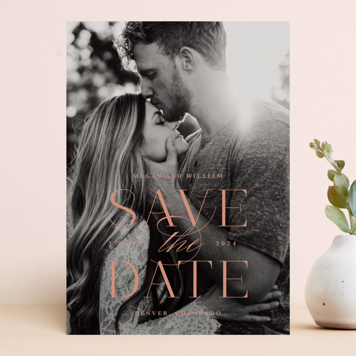 """""""Ultimate"""" - Save The Date Cards in Cotton by Lauren Chism."""
