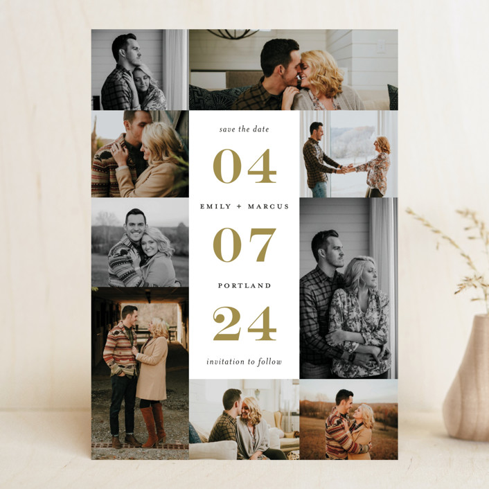 """""""Engagement Story"""" - Save The Date Cards in Pebble by Kimberly FitzSimons."""