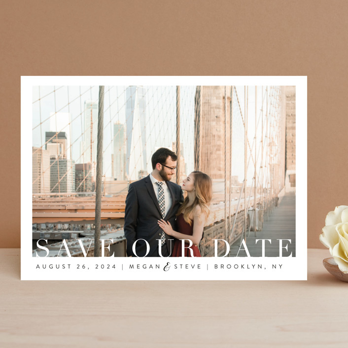 """Simple Elegance"" - Save The Date Cards in Clouds by Kasia Labocki."