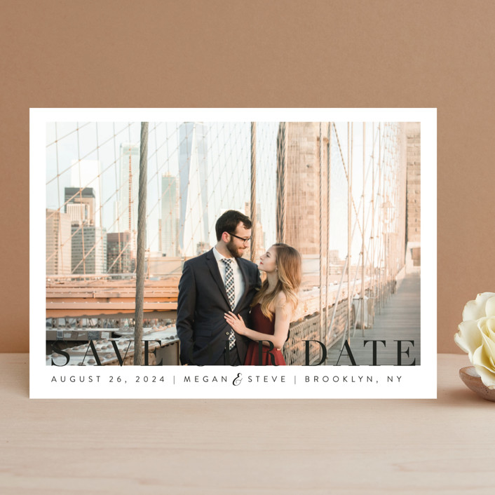 """""""Simple Elegance"""" - Save The Date Cards in Clouds by Kasia Labocki."""