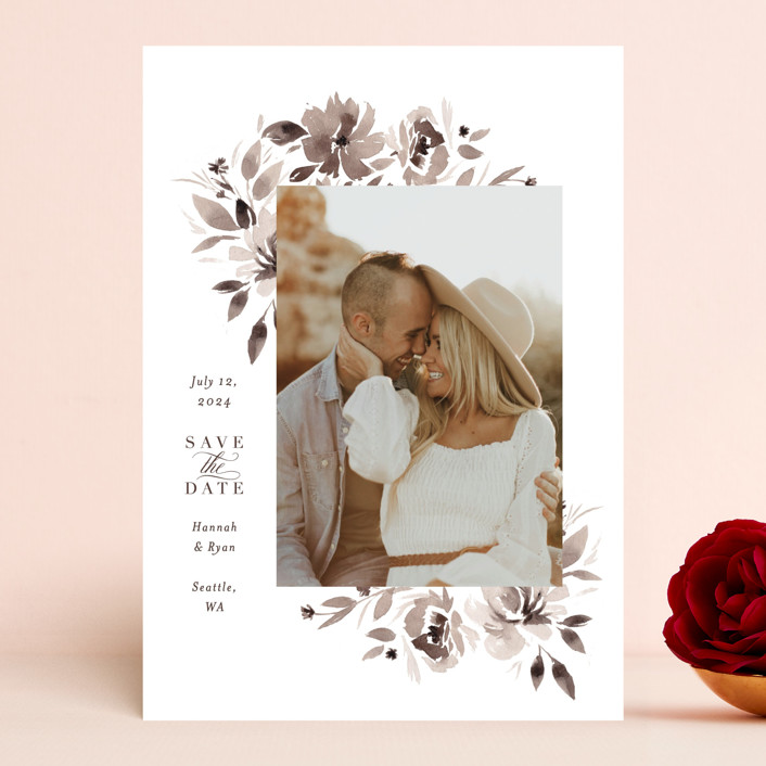 """""""sepia"""" - Save The Date Cards in Sepia by Itsy Belle Studio."""