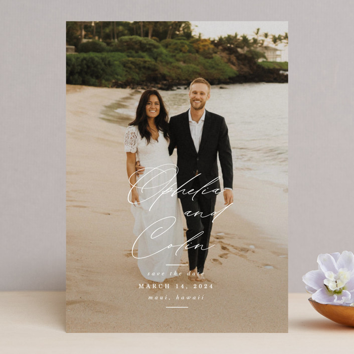 """""""Paradise Found"""" - Save The Date Cards in Cloud by Ashlee Townsend."""