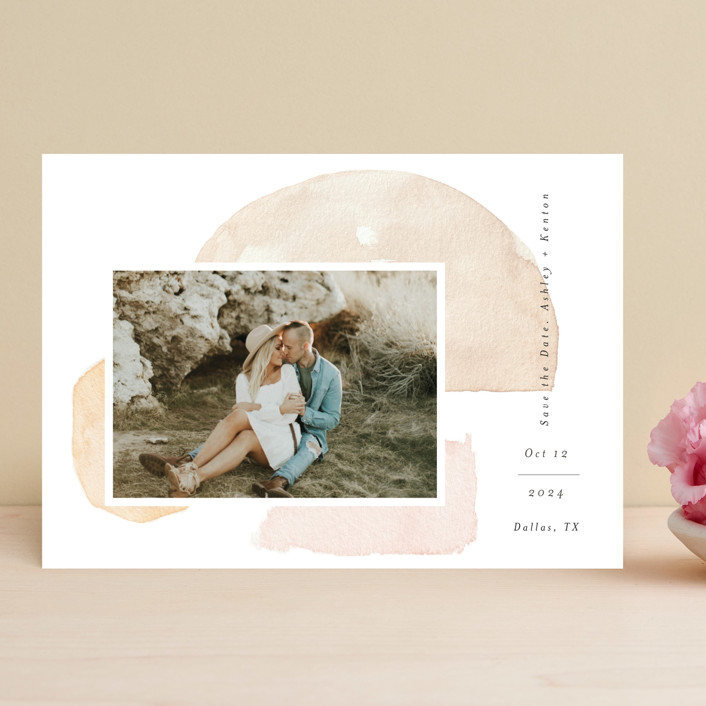 """""""Fika"""" - Rustic Save The Date Cards in Earth by Itsy Belle Studio."""