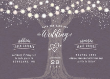Garden Lights Save the Date Cards By Hooray Creative