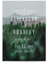 This is a grey save the date by Elly called Adventure Awaits with standard printing on signature in standard.