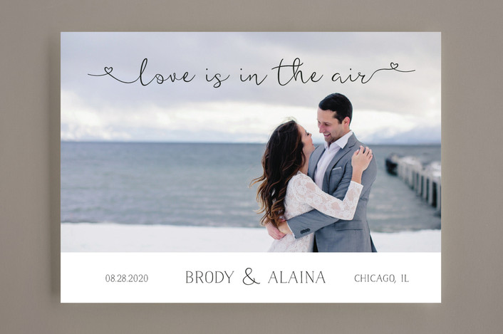 """Air"" - Rustic Save The Date Cards in Midnight by LemonBirch Design."