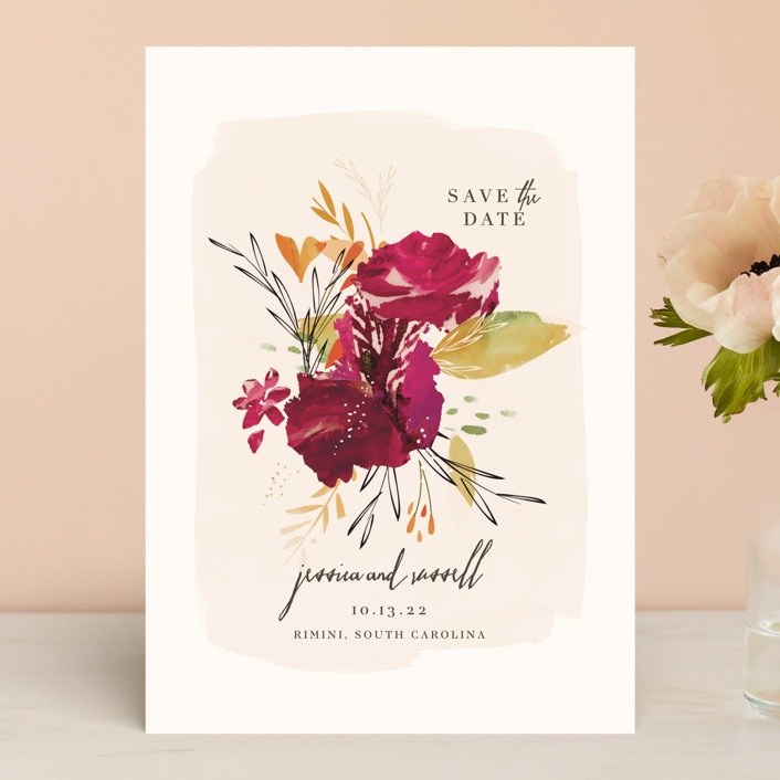 """""""Angelica"""" - Save The Date Cards in Razzmatazz by Lori Wemple."""