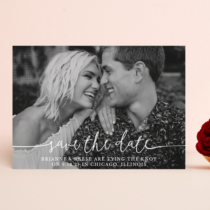 """Boho Love"" - Save The Date Cards in Lily by Christine Taylor."