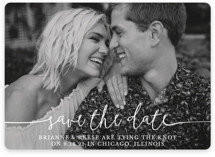 This is a white save the date by Christine Taylor called Boho Love with standard printing on smooth signature in standard.